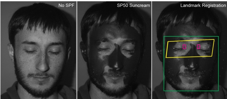 Sunscreen imaging using a UV camera