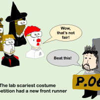 lab halloween party cartoon