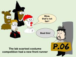 lab halloween party cartoon